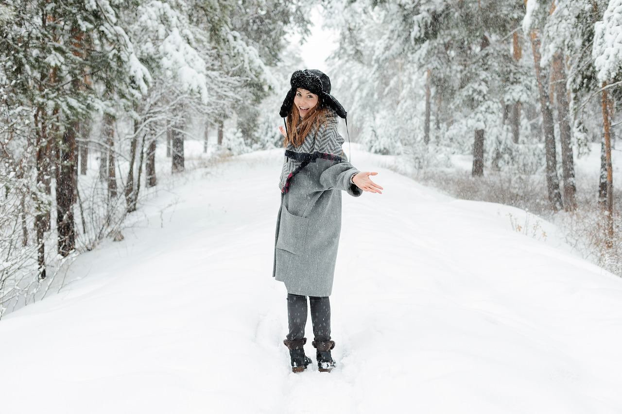 flaušový kabát