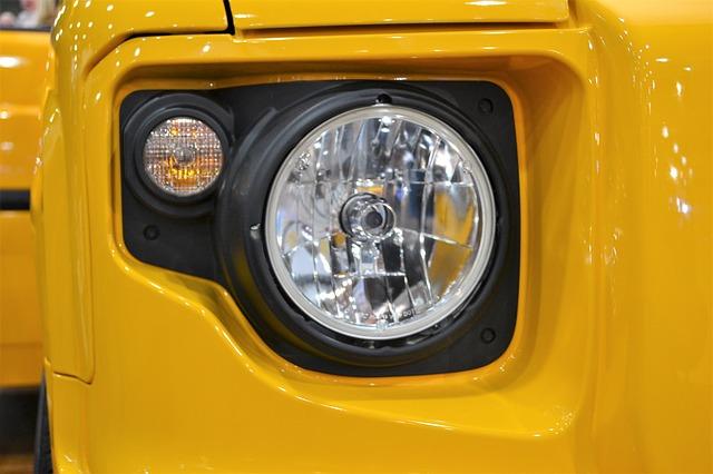 světlo jeepu